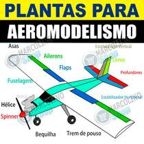 2.380 Plantas De Aeromodelos + Simuladores Adesivos Turbina