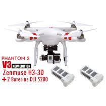 Drone Dji Phantom 2 V3 + Dji Gimbal H3-3d + 2 Baterias Dji