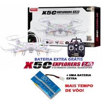 Drone Quadricoptero Syma X5c Câmera Hd 2.4ghz +bateria Extra