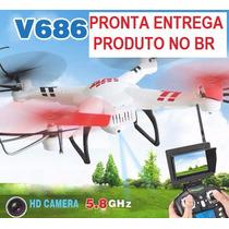 Drone Quadricoptero V686g Fpv Imagem Ao Vivo- Pronta Entrega