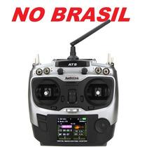 Radio Controle At9 9ch 2.4 Receptor Telemetria Futaba Turnig