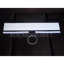 Asa Treinador Isopor P3 18cm X 1m C/ Fibra Vidro E Ailerons