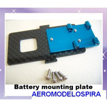 Metal+carbon Battery Mounting Plate For T-rex 450 Se V2