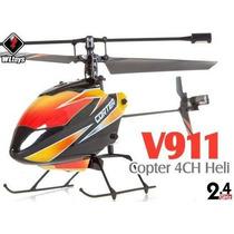 Helicóptero Wltoys V911 Completo 4ch 2.4ghz Rtf Frete Gratis