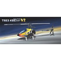 Helicóptero T-rex 450 Sport V2 Super Combo - 6 Ch
