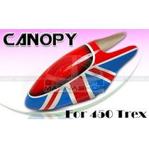 Canopy Fibra De Vidro T-rex 450 Titan Hk450 Copterx Clones