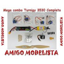 Combo Turnigy 3530 +esc 50amp+bateria+servos+hélice