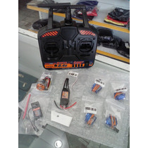 Combo Radio 4ch - Servos 9g - Esc - Motor