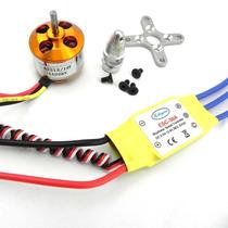 Motor Brushless 2212 1400kv Esc 30a Bec 5v Shock Flyer Jr