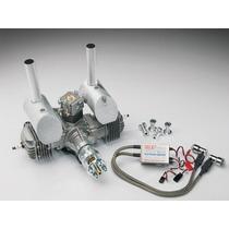 Motor Gasolina Dle-60cc Twin Gas & Mufflers Aeromodelo