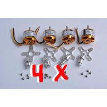 Combo 04 - 04 Motor A2212 Brushless 1000kv P Rc F450 Ou Aero