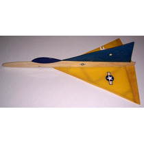 Kit Planador Delta Supersônico Para Montar - Com Estilingue!