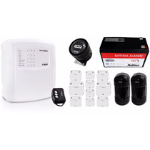 Kit Alarme Residencial E Comercial Ecp Alard Max4 + Brindes