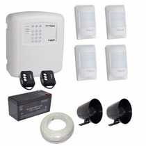 Kit Alarme Residencial E Comercial 4 Sensores Sem Fio Ecp