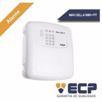 Kit Alarme Ecp 1 Central Max Cell 4 Gsm + 1 Controle Fit