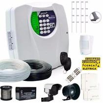 Kit Cerca Elétrica 120 Metros E Kit Alarme S/ Fio + Brinde