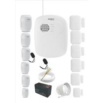 Kit De Alarme Intelbrás Sem Fio Pronto P/ Instalar 12 Sensor