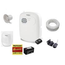 Kit Alarme Residencial Comercial Intelbras Sensores Com Fio