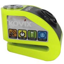 Trava De Disco Com Alarme Verde Fluorescente - Kovix