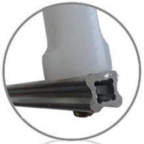 Haste Estrela D Aluminio 4 Isoladores Cerca Elétrica 1 Uni