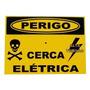 Placa Advertência Aluminio Perigo Cerca Elétrica 10 Unidades