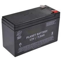 Bateria 12v 7a P/ Alarmes Cerca Elétrica Planet Battery