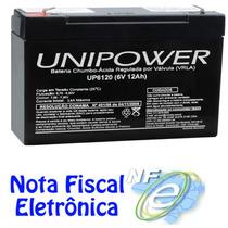 Bateria Selada 6v 12ah Unipower - Up 6120 Brinquedo Eletrico