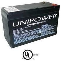 Bateria Selada 12v 7ah Unipower P/ Alarme/no Break/cerca Elé
