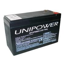 Bateria 12v 7a Up1270seg Selada Recarregável Unipower