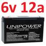 Bateria Recarregável 6v 12a Up6120 Brinquedo 12ah Unipower *