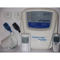Kit Alarme Residencial + Sensores + Discadora Gsm + Controls
