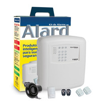 Kit Alarme Residencial Ecp + 4 Sensores
