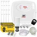 Kit Cerca Elétrica C/ Alarme Residencial Jfl + 4 Sensores