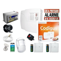 Kit Alarme Residencial/comercial 3 Sensores Sem Fio Ppa