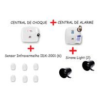 Kit Central De Choque + Alarme + Sirene Jfl - Promoção