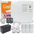 Kit Alarme Resid. Sem Fio 7 Sensores C/ Discadora E Bateria