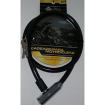 Cadeado Cabo Aço 13mm Encapado Moto Estepe Portão Preto Fumê