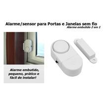 Alarme Sonoro De Entrada De Portas E Janelas + Bateria