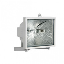 Refletor Branco S/sensor C/lâmpada Halógena 150w