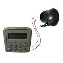Kit Sirene Programavel (controlador + Sirene Voltagem 110v)