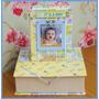 -= Mini Álbum 100 Fotos C/ Caixa Bebê Menino - Scrapbook -=