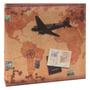 Álbum De Fotos Avião E Selos - 200 Fotos - Com Capa Em Cetim