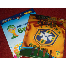Album Copa 2014 Capa Dura + Album Brasil De Todas As Copas