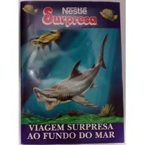 Álbum Figurinha Vazio Nestlé Surpresa Viagem Fundo Ma