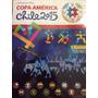 Álbum Copa América 2105 + Box Completo E Colado