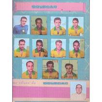 Cartela Coleçao - 11 Craques Campeões Mundiais 1958 Futebol
