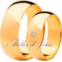 Par De Alianças Em Ouro 18k 750 - 12 Gramas - Sedex Grátis!