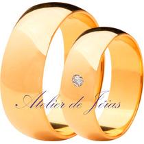 Par De Alianças Em Ouro 18k 750 - 10 Gramas - Sedex Grátis!