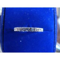 Alianca Inteira De Ouro Branco 18k Com Diamante 11