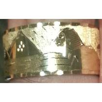 Leão Jóias Aliança Anel De Ouro Escrava 18k 10mm Certificado